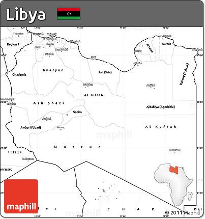 Free Blank Simple Map Of Libya - Libya blank map