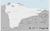 Gray 3D Map of Tripoli (Tarabulus)
