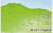 Physical 3D Map of Tripoli (Tarabulus)