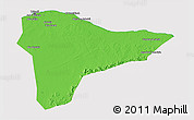 Political 3D Map of Tripoli (Tarabulus), cropped outside