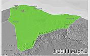 Political 3D Map of Tripoli (Tarabulus), desaturated