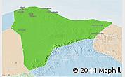 Political 3D Map of Tripoli (Tarabulus), lighten