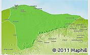 Political 3D Map of Tripoli (Tarabulus), physical outside