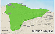 Political 3D Map of Tripoli (Tarabulus), shaded relief outside