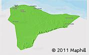 Political 3D Map of Tripoli (Tarabulus), single color outside
