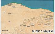 Satellite 3D Map of Tripoli (Tarabulus)