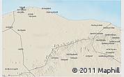 Shaded Relief 3D Map of Tripoli (Tarabulus)