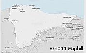 Silver Style 3D Map of Tripoli (Tarabulus)