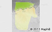 Physical 3D Map of Yafran (Yefren), desaturated