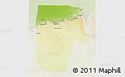 Physical 3D Map of Yafran (Yefren), lighten
