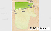 Physical 3D Map of Yafran (Yefren), satellite outside