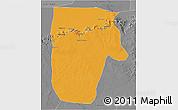 Political 3D Map of Yafran (Yefren), desaturated