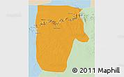 Political 3D Map of Yafran (Yefren), lighten
