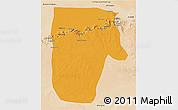 Political 3D Map of Yafran (Yefren), satellite outside