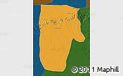 Political Map of Yafran (Yefren), darken