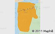 Political Map of Yafran (Yefren), lighten