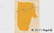 Political Map of Yafran (Yefren), satellite outside