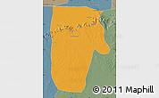 Political Map of Yafran (Yefren), semi-desaturated
