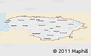 Classic Style Panoramic Map of Lithuania, single color outside