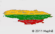 Flag Panoramic Map of Lithuania