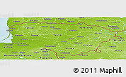 Physical Panoramic Map of Lithuania