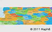 Political Panoramic Map of Lithuania