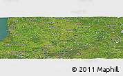 Satellite Panoramic Map of Lithuania