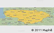 Savanna Style Panoramic Map of Lithuania
