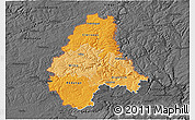 Political Shades 3D Map of Diekirch, darken, desaturated