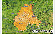Political Shades 3D Map of Diekirch, satellite outside