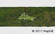 Satellite Panoramic Map of Diekirch, darken