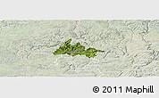 Satellite Panoramic Map of Diekirch, lighten