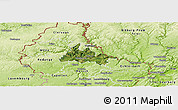 Satellite Panoramic Map of Diekirch, physical outside