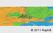 Satellite Panoramic Map of Diekirch, political outside
