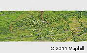 Satellite Panoramic Map of Diekirch