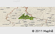 Satellite Panoramic Map of Diekirch, shaded relief outside