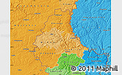 Political Shades Map of Diekirch