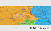 Political Shades Panoramic Map of Diekirch
