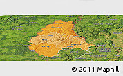 Political Shades Panoramic Map of Diekirch, satellite outside
