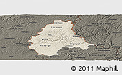 Shaded Relief Panoramic Map of Diekirch, darken