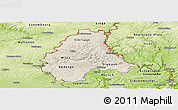 Shaded Relief Panoramic Map of Diekirch, physical outside