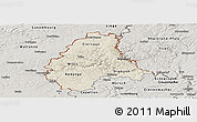 Shaded Relief Panoramic Map of Diekirch, semi-desaturated