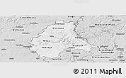 Silver Style Panoramic Map of Diekirch