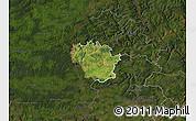 Satellite Map of Redange, darken