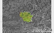 Satellite Map of Redange, desaturated