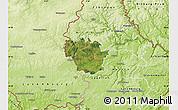 Satellite Map of Redange, physical outside