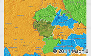 Satellite Map of Redange, political outside