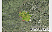 Satellite Map of Redange, semi-desaturated