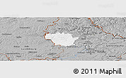 Gray Panoramic Map of Redange