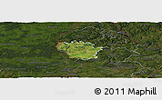 Satellite Panoramic Map of Redange, darken